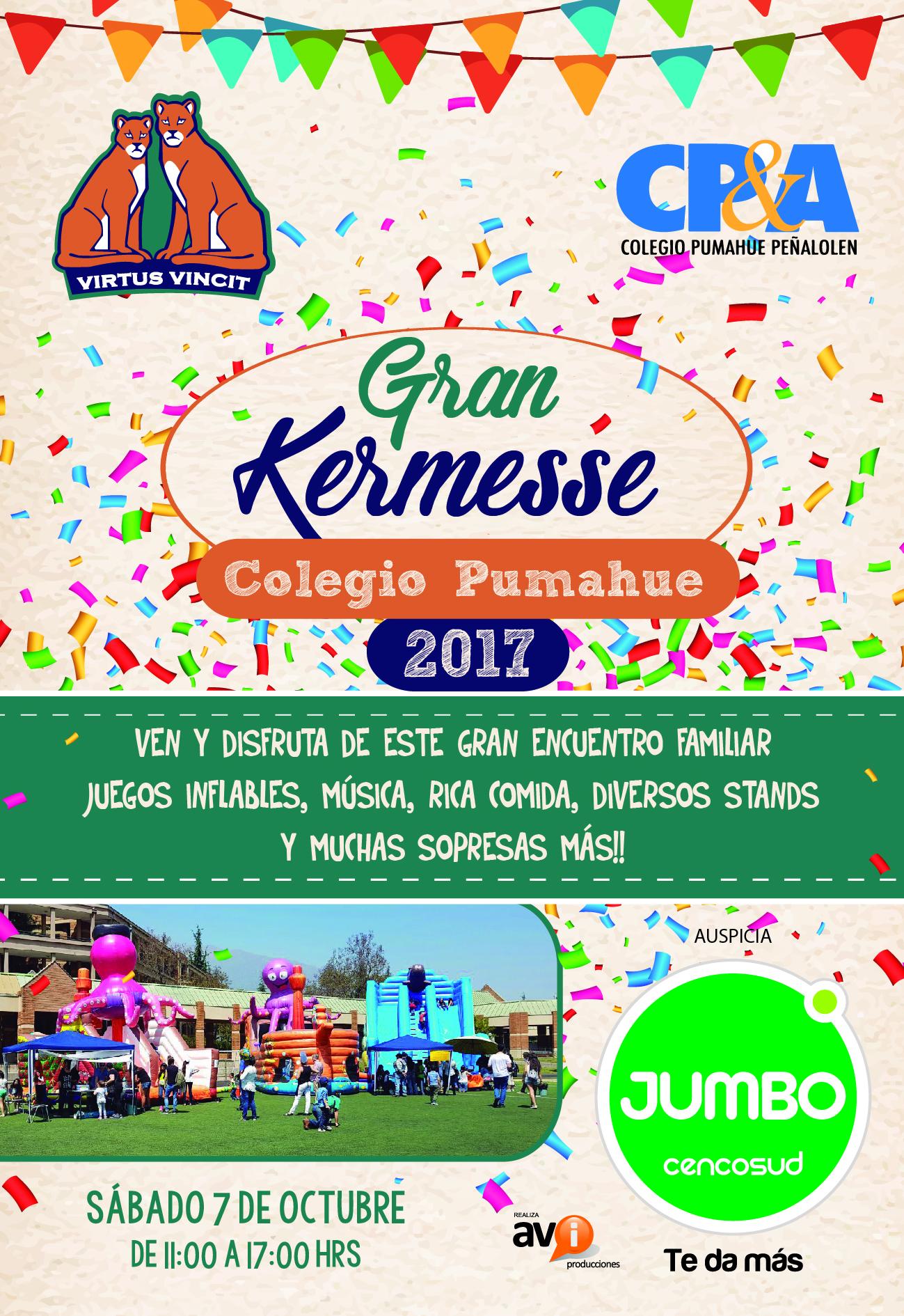 Invitacion Kermesse 2017 Colegio Pumahue Penalolen